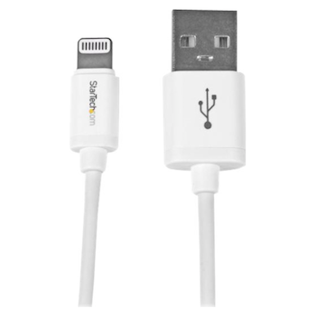 Product image of Startech 8-pin Lightning to USB 30cm Cable - White - Click for product page of Startech 8-pin Lightning to USB 30cm Cable - White