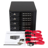 """A product image of Startech 4 Bay 3.5"""" SATA/SAS HDD Trayless Mobile Rack Backplane w/Fan"""