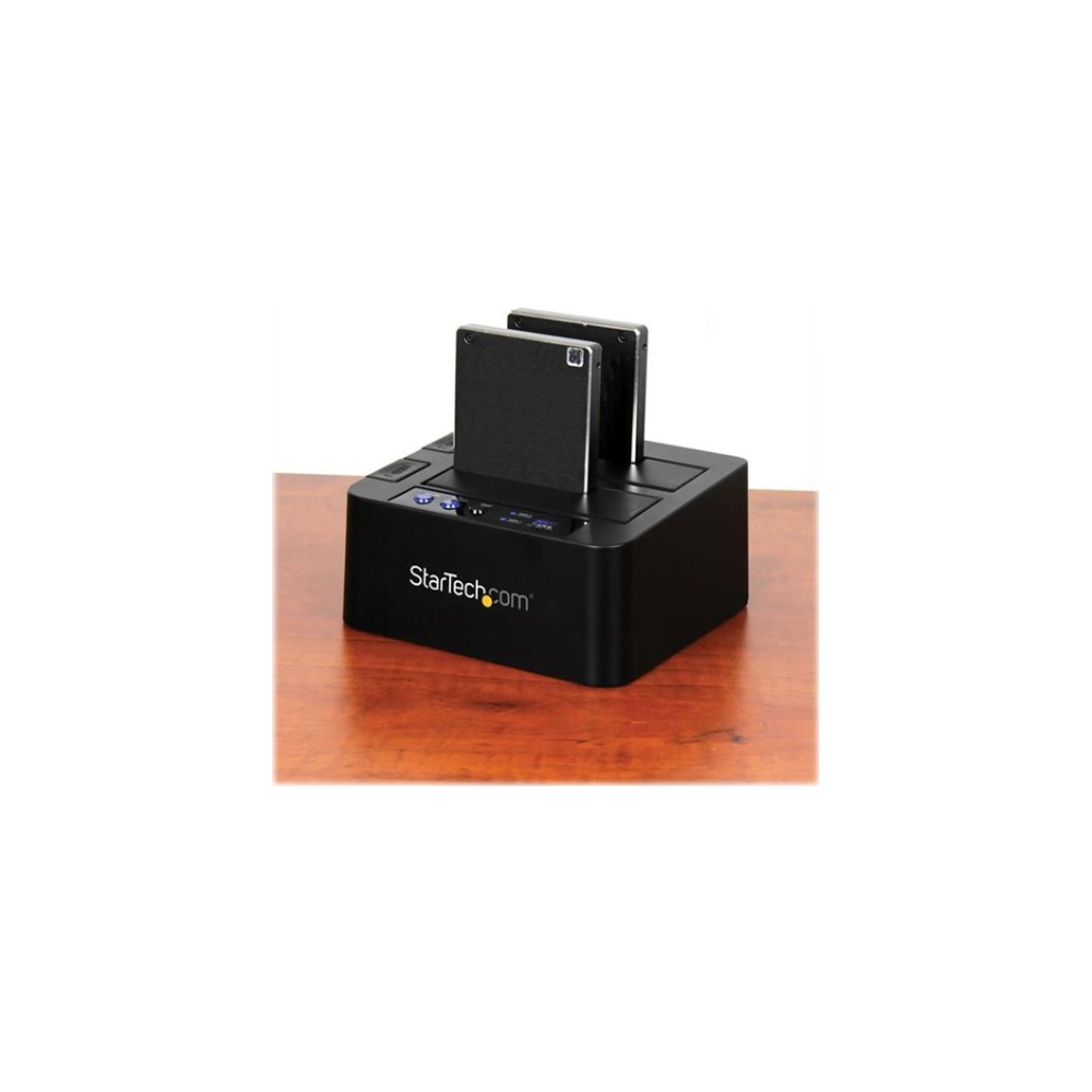 """A large main feature product image of Startech USB3.1 HDD Cloner and Dock for 2.5""""/3.5"""" SATA SSD/HDD"""