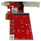 A small tile product image of Startech 2-Slot PCI Express M.2 RAID Card with 2x SATA3 Ports - PCIe