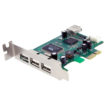 Product image of Startech 4 Port LP PCI Express USB Card  - Click for product page of Startech 4 Port LP PCI Express USB Card