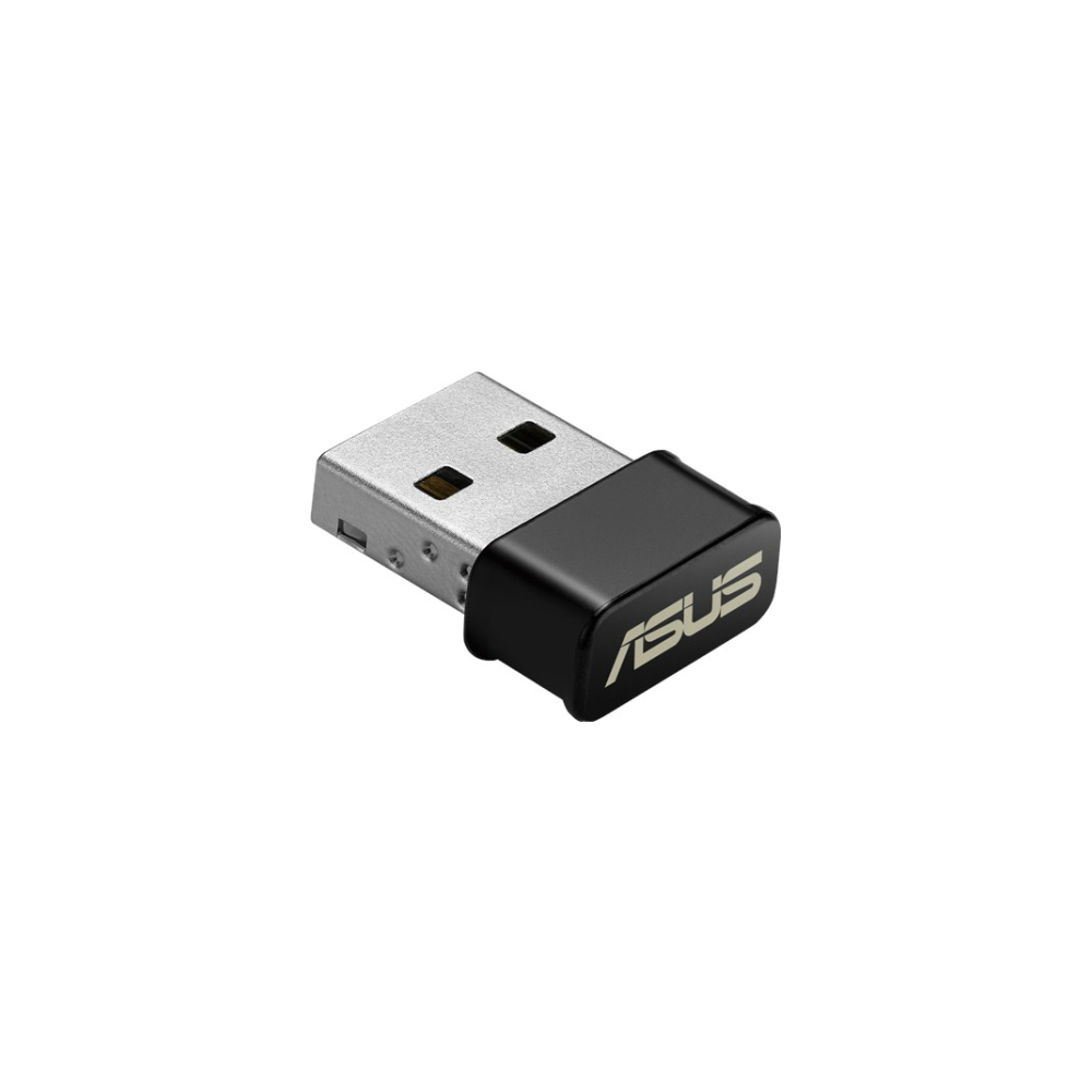 A large main feature product image of ASUS USB-AC53 Nano 802.11ac Dual-Band Wireless-AC1200 USB Adapter