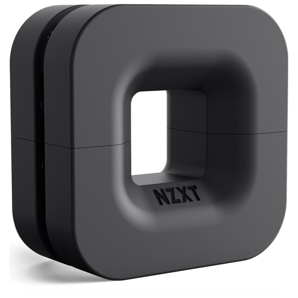 A large main feature product image of NZXT Puck Headset Hanger Black