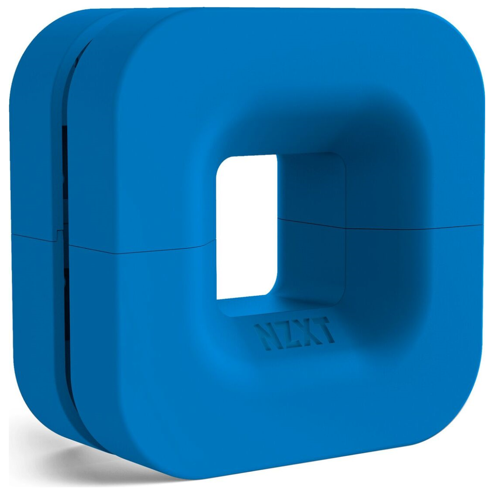 A large main feature product image of NZXT Puck Headset Hanger Blue