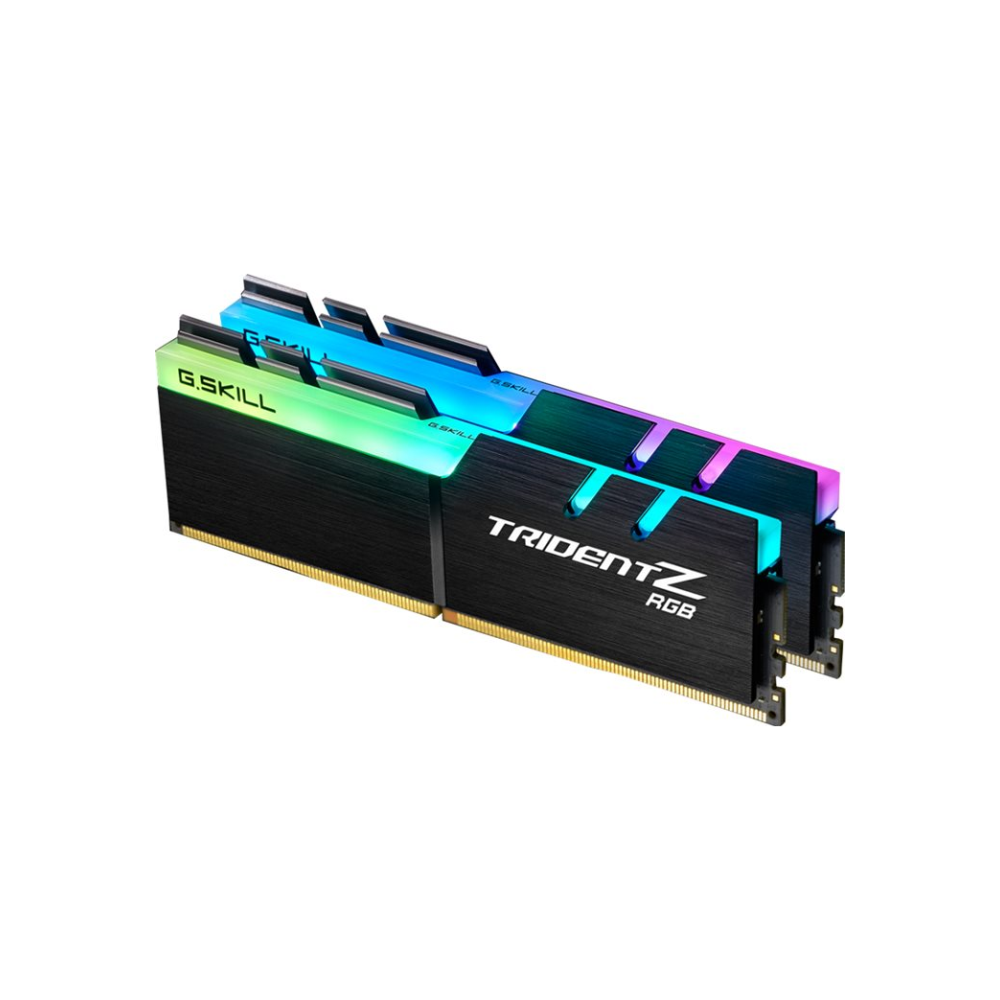 A large main feature product image of G.Skill 16GB Kit (2x8GB) DDR4 Trident Z RGB 3200MHz C16