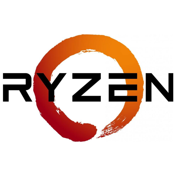 A large main feature product image of PLE Custom AMD Ryzen AM4 Desktop PC System