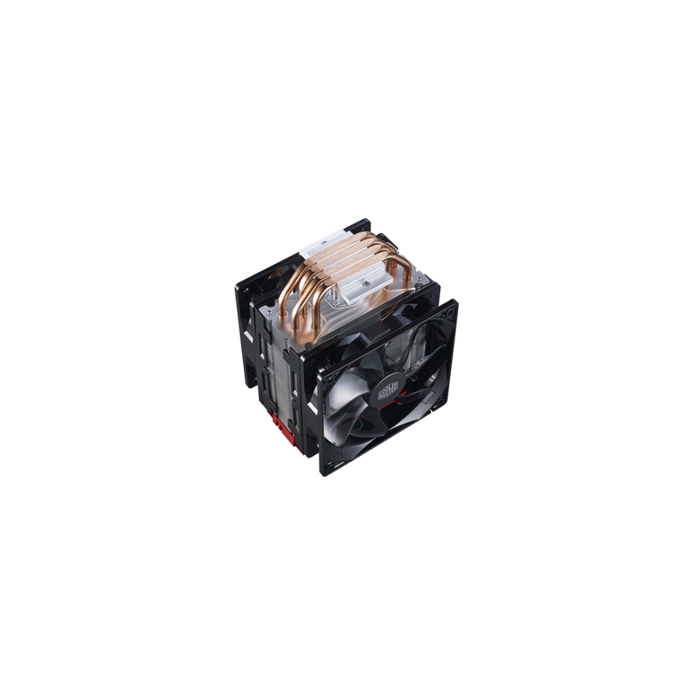 A large main feature product image of Cooler Master Hyper 212 LED Turbo (Red LED) CPU Cooler