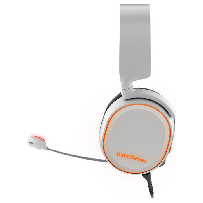 steelseries arctis 5 white usb gaming headset 61444. Black Bedroom Furniture Sets. Home Design Ideas