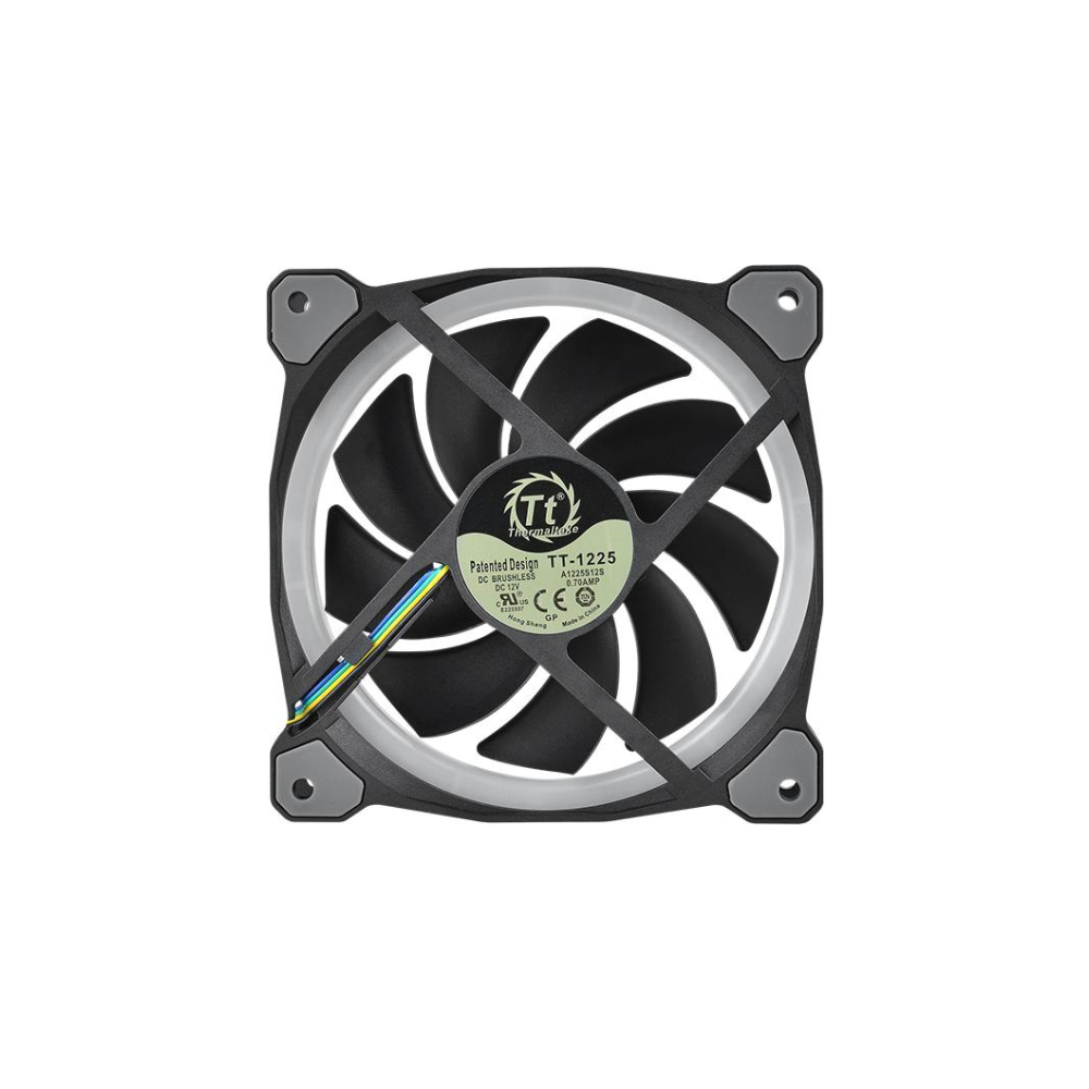 A large main feature product image of Thermaltake Riing Plus 3 Pack 120mm RGB LED Premium Edition Fans w/ Controller