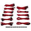 A product image of Corsair CP-8920152 (Gen 3) Red Sleeved DC Cable Pro Kit