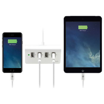 Product image of ALOGIC Elite 4 Port USB Charger With Smart Charge - Silver - Click for product page of ALOGIC Elite 4 Port USB Charger With Smart Charge - Silver