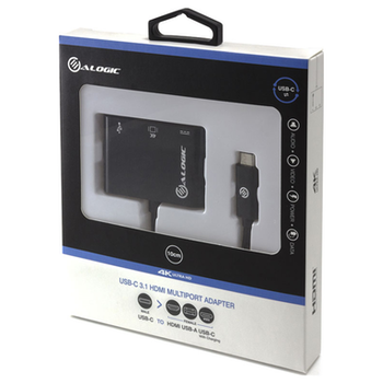 Product image of ALOGIC USB Type-C to HDMI/USB3.0/USB-C Adapter - Black - Click for product page of ALOGIC USB Type-C to HDMI/USB3.0/USB-C Adapter - Black