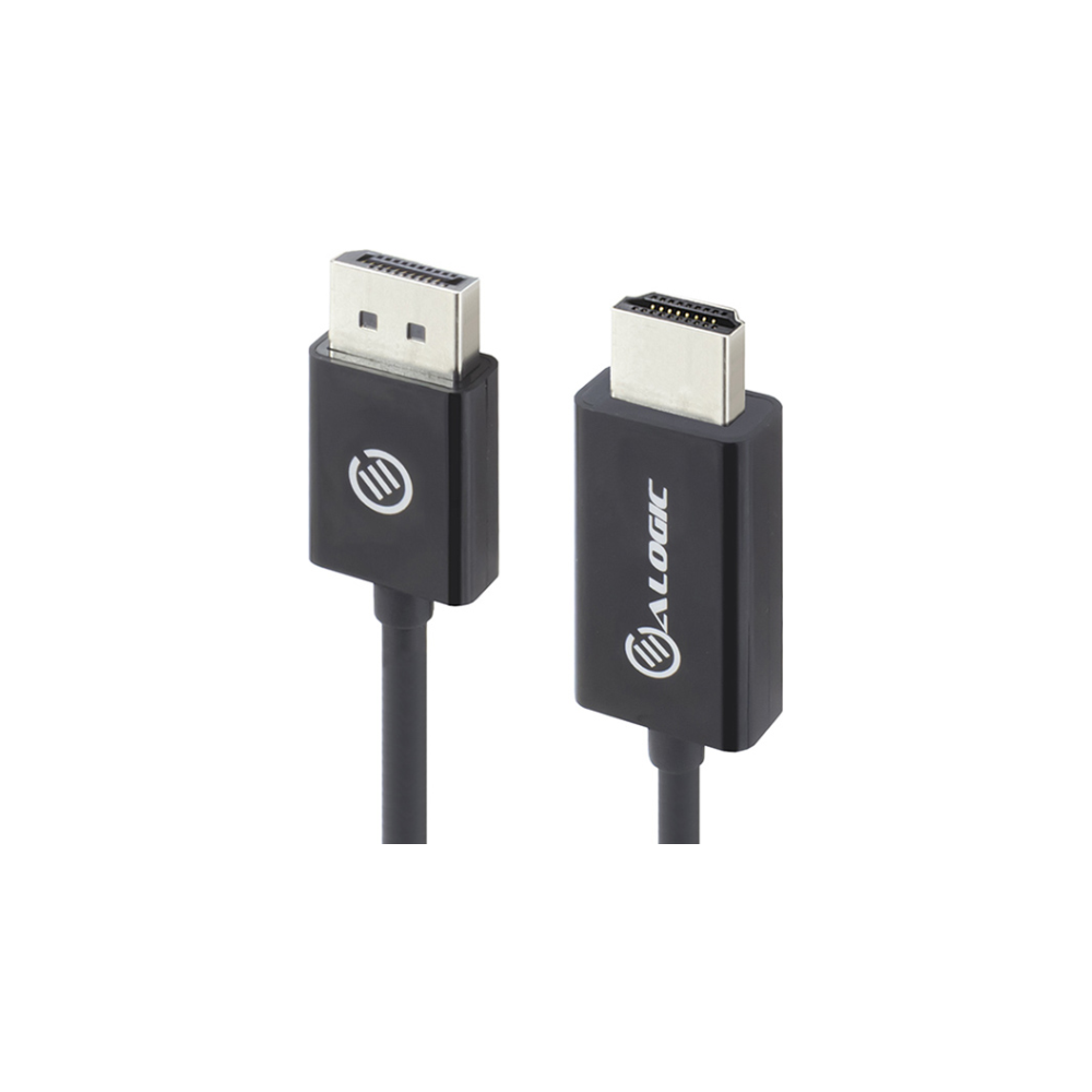 A large main feature product image of ALOGIC Elements DisplayPort to HDMI 1m Cable