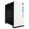 A product image of InWin 301 White mATX Tower Case w/ Tempered Glass Side Panel