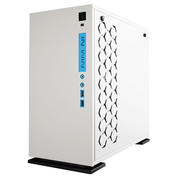 Product image of InWin 301 White mATX Tower Case w/ Tempered Glass Side Panel - Click for product page of InWin 301 White mATX Tower Case w/ Tempered Glass Side Panel