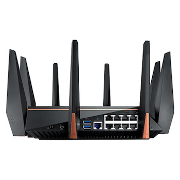 Product image of ASUS ROG Rapture GT-AC5300 802.11ac Tri-Band AiMesh Wireless-AC5300 Gigabit Gaming Router - Click for product page of ASUS ROG Rapture GT-AC5300 802.11ac Tri-Band AiMesh Wireless-AC5300 Gigabit Gaming Router