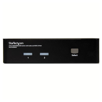 Product image of Startech 2 Port USB HDMI KVM Switch with Audio and USB 2.0 Hub - Click for product page of Startech 2 Port USB HDMI KVM Switch with Audio and USB 2.0 Hub