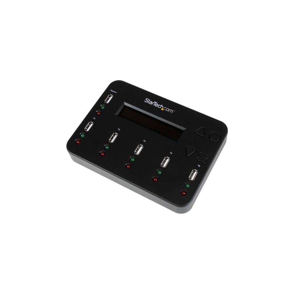 A large main feature product image of Startech USB 1:5 Flash Drive Duplicator & Multi-Pass DoD Eraser