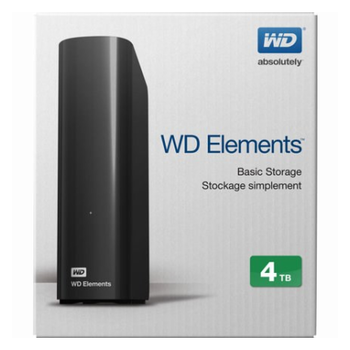 "Product image of WD Elements 4TB USB3.0 3.5"" Black External HDD - Click for product page of WD Elements 4TB USB3.0 3.5"" Black External HDD"