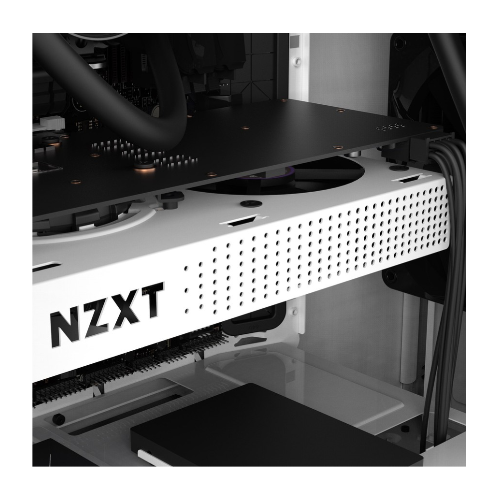 A large main feature product image of NZXT Kraken G12 GPU Adapter - White