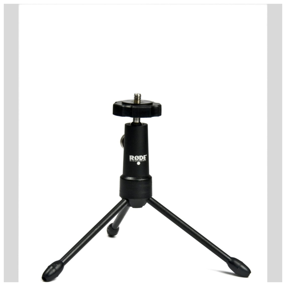 A large main feature product image of RODE Mini Tripod Mic Stand