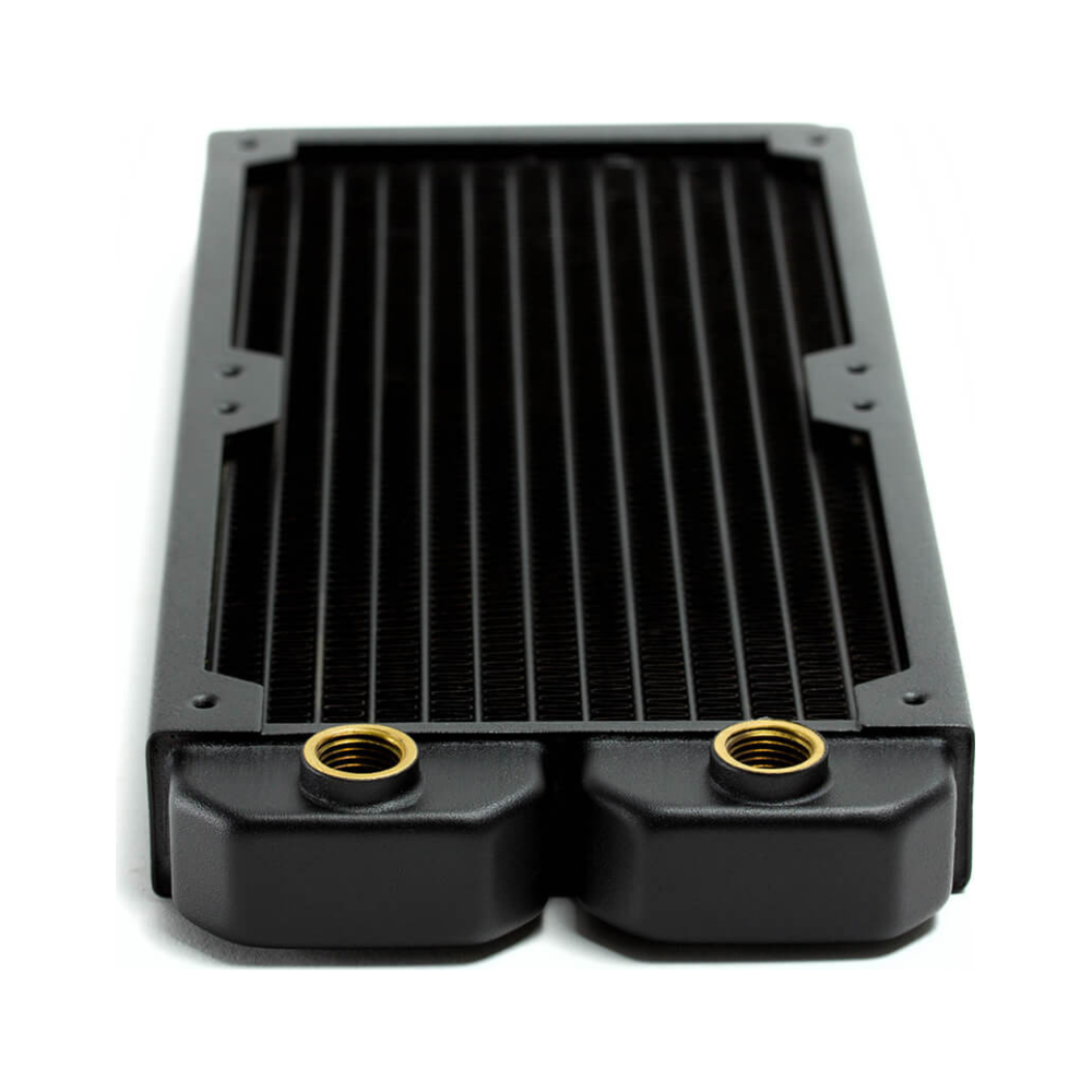 A large main feature product image of PrimoChill 240mm EximoSX Slim Radiator - Black