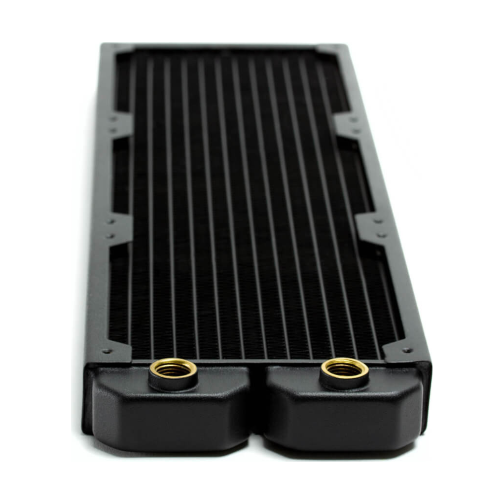 A large main feature product image of PrimoChill 360mm EximoSX Slim Radiator - Black