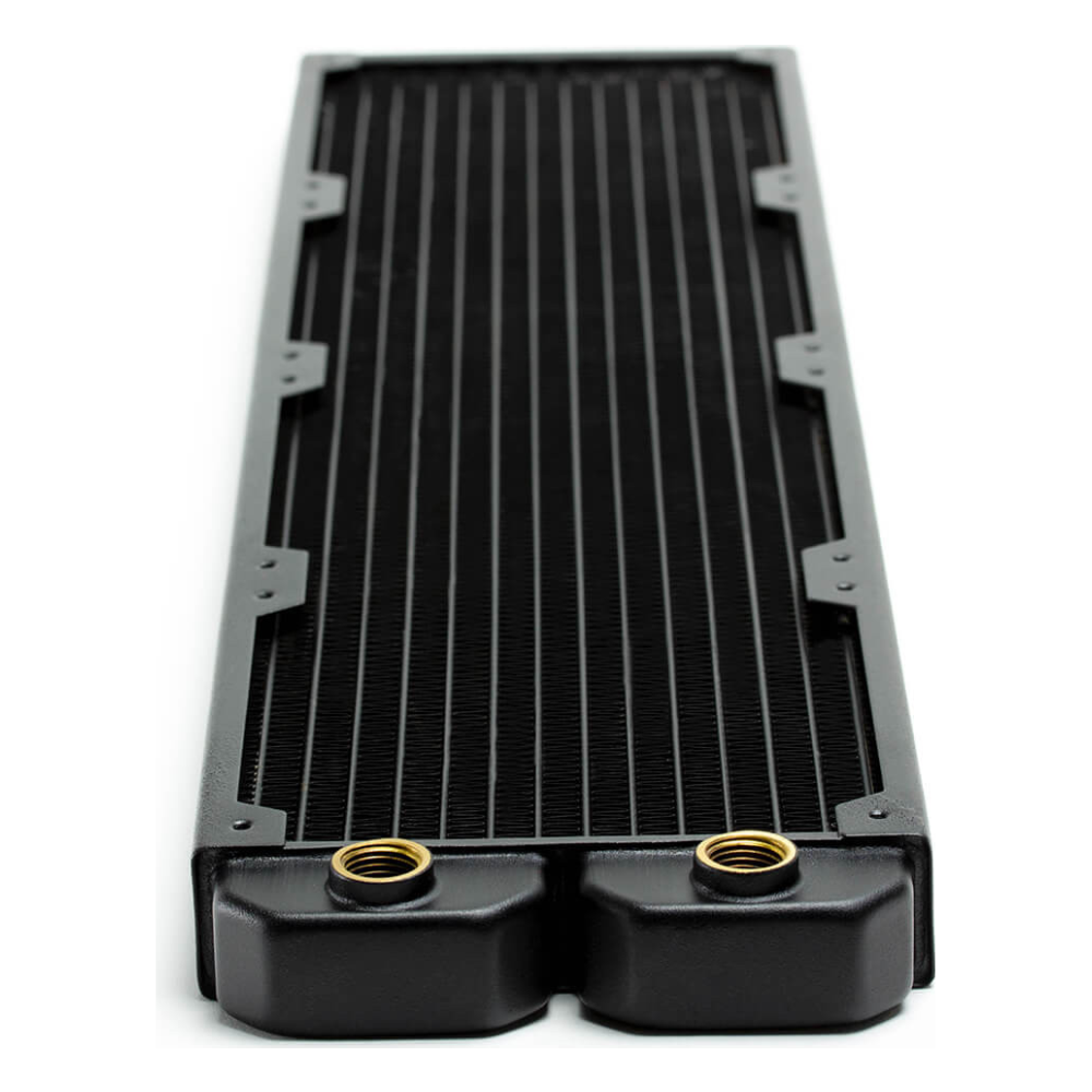 A large main feature product image of PrimoChill 480mm EximoSX Slim Radiator - Black