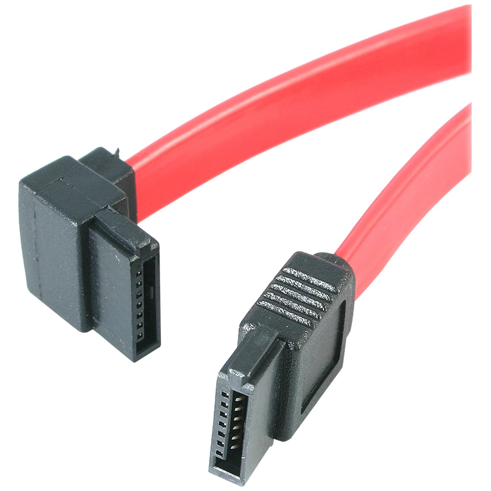 A large main feature product image of Startech 12in SATA to Left Angle SATA Serial ATA Cable