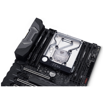 Product image of EK FB MSI X299 GAMING PRO CARBON RGB Monoblock - Nickel - Click for product page of EK FB MSI X299 GAMING PRO CARBON RGB Monoblock - Nickel