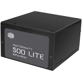 Product image of Cooler Master MasterWatt Lite 500W 80PLUS White Power Supply - Click for product page of Cooler Master MasterWatt Lite 500W 80PLUS White Power Supply