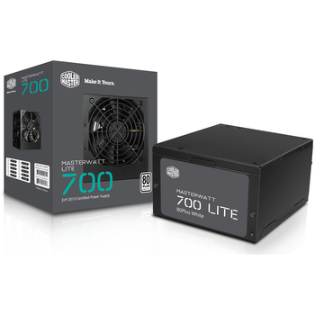 Product image of Cooler Master MasterWatt Lite 700W 80PLUS White Power Supply - Click for product page of Cooler Master MasterWatt Lite 700W 80PLUS White Power Supply