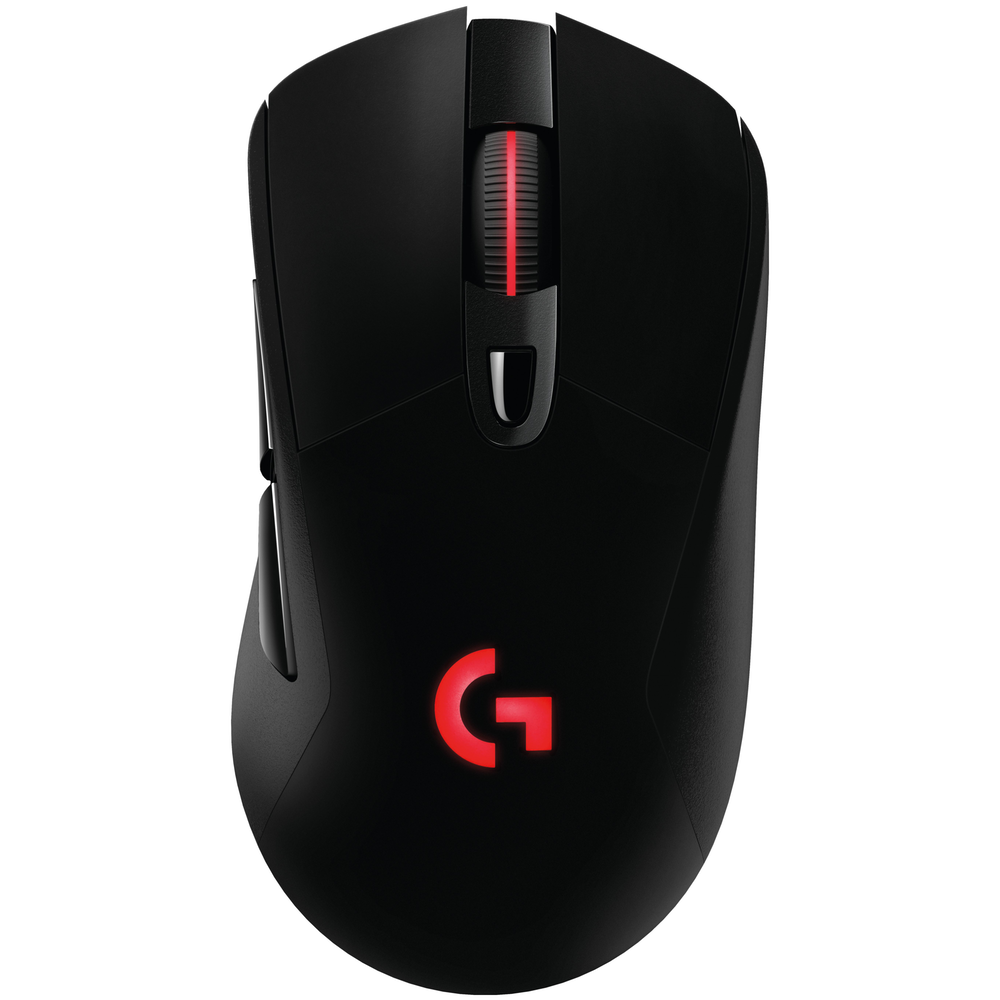 A large main feature product image of Logitech G703 LIGHTSPEED Cordless Optical Gaming Mouse Black