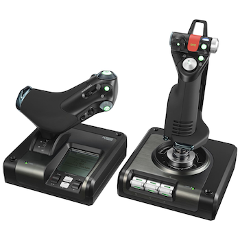 Product image of Logitech X52 PRO HOTAS Flight Control System - Click for product page of Logitech X52 PRO HOTAS Flight Control System