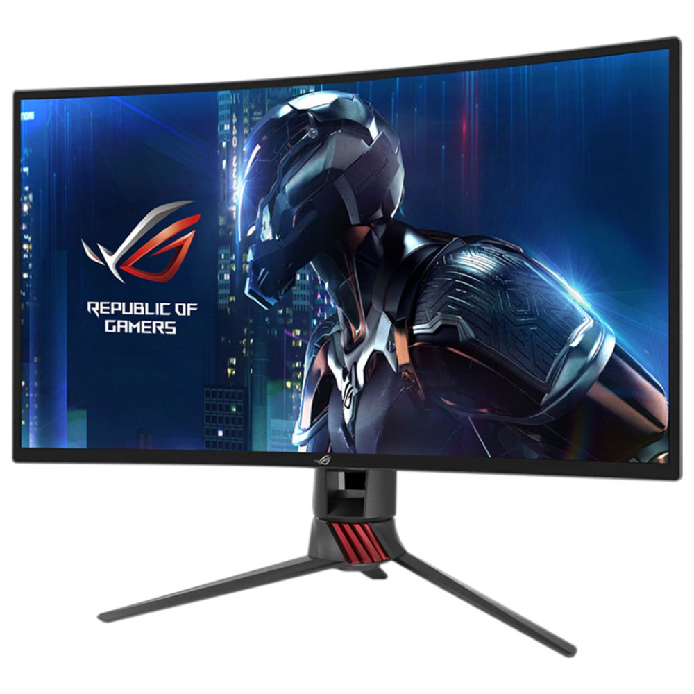 "A large main feature product image of ASUS ROG Strix XG27VQ 27"" Full HD FreeSync Curved 144Hz 4MS VA LED Gaming Monitor"