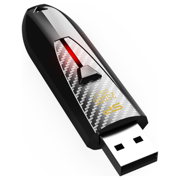 Product image of Silicon Power Blaze B25 64GB USB3.1 Flash Drive (Black) - Click for product page of Silicon Power Blaze B25 64GB USB3.1 Flash Drive (Black)