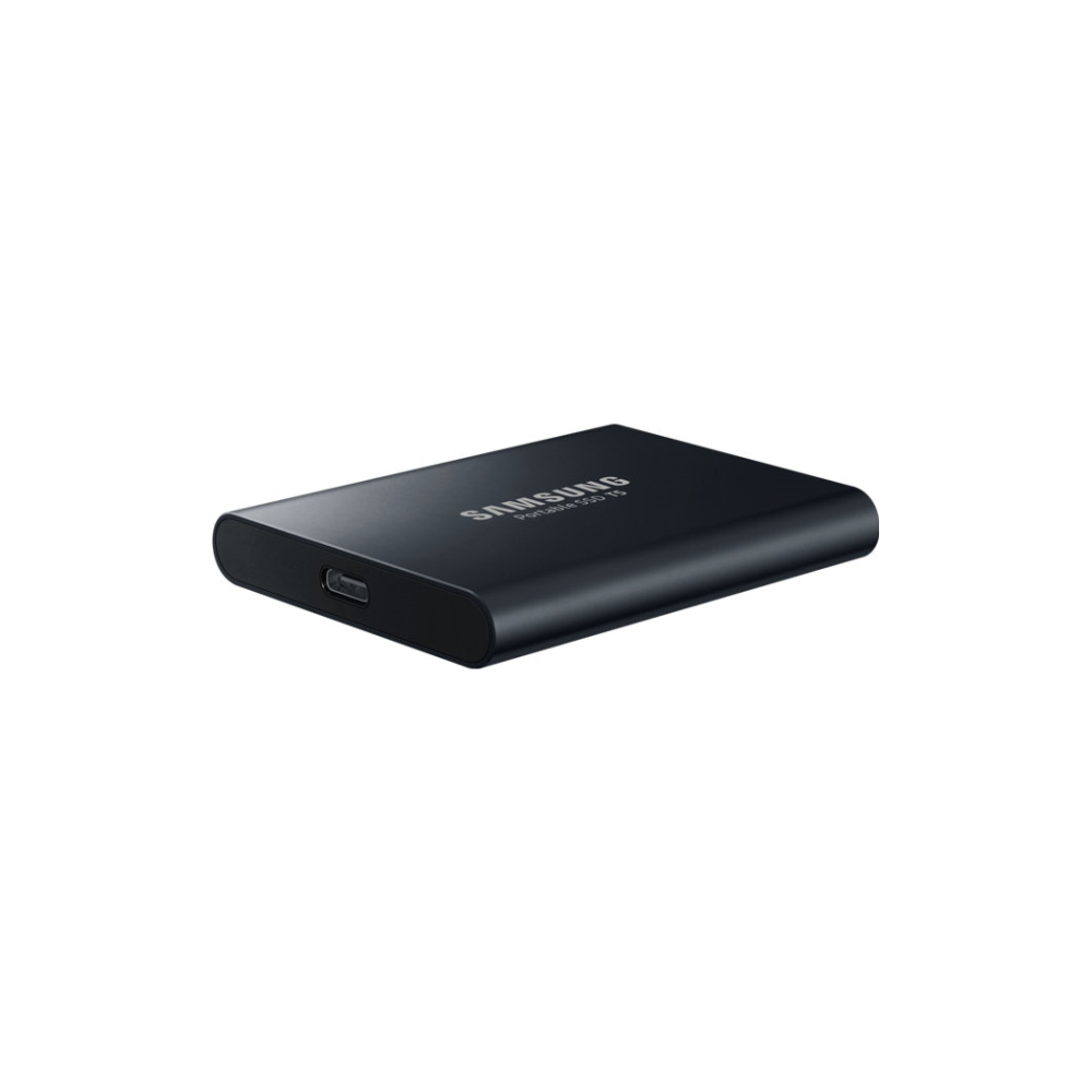A large main feature product image of Samsung T5 1TB USB3.1 Black Portable SSD