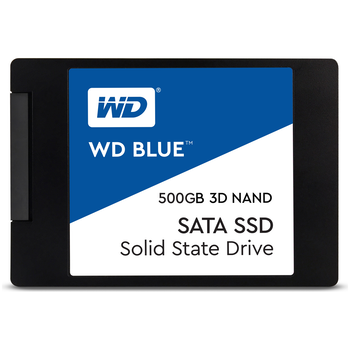 "Product image of WD Blue 500GB 3D NAND 2.5"" SSD - Click for product page of WD Blue 500GB 3D NAND 2.5"" SSD"