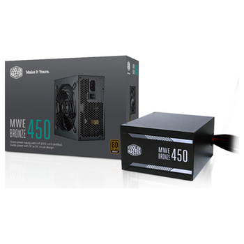 Product image of Cooler Master MWE 450W 80PLUS Bronze Power Supply - Click for product page of Cooler Master MWE 450W 80PLUS Bronze Power Supply