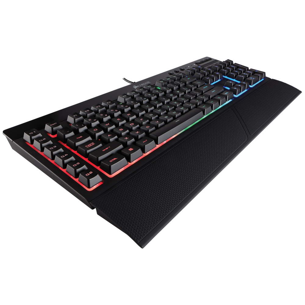 A large main feature product image of Corsair Gaming K55 RGB Gaming Keyboard & Harpoon Mouse Combo