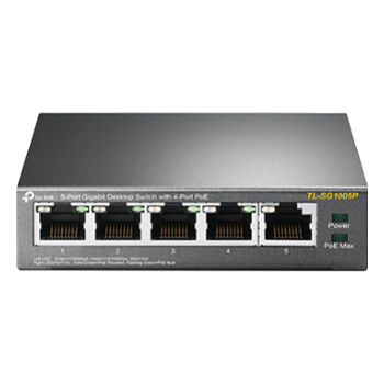 Product image of TP-LINK SG1005P 5-Port Gigabit Unmanaged Switch w/ 4-Port PoE - Click for product page of TP-LINK SG1005P 5-Port Gigabit Unmanaged Switch w/ 4-Port PoE