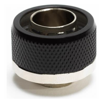"""Product image of Primochill FlexSX 13mm(1/2"""") ID 19mm(3/4"""") OD Compression Fitting - Satin Black - Click for product page of Primochill FlexSX 13mm(1/2"""") ID 19mm(3/4"""") OD Compression Fitting - Satin Black"""