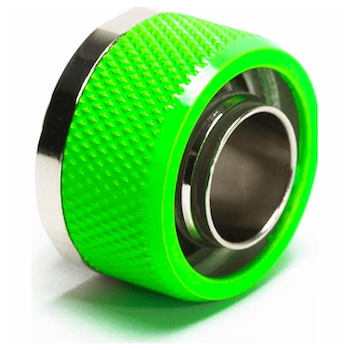 "Product image of Primochill FlexSX 10mm(3/8"") ID 16mm(5/8"") OD Compression Fitting - UV Green - Click for product page of Primochill FlexSX 10mm(3/8"") ID 16mm(5/8"") OD Compression Fitting - UV Green"