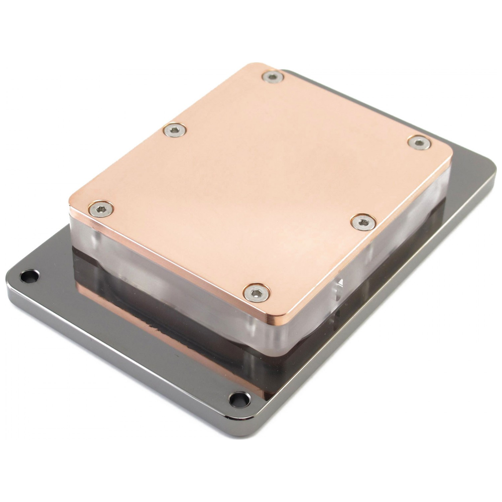 A large main feature product image of XSPC Raystorm Neo (AMD sTR4) CPU Waterblock - Black Chrome