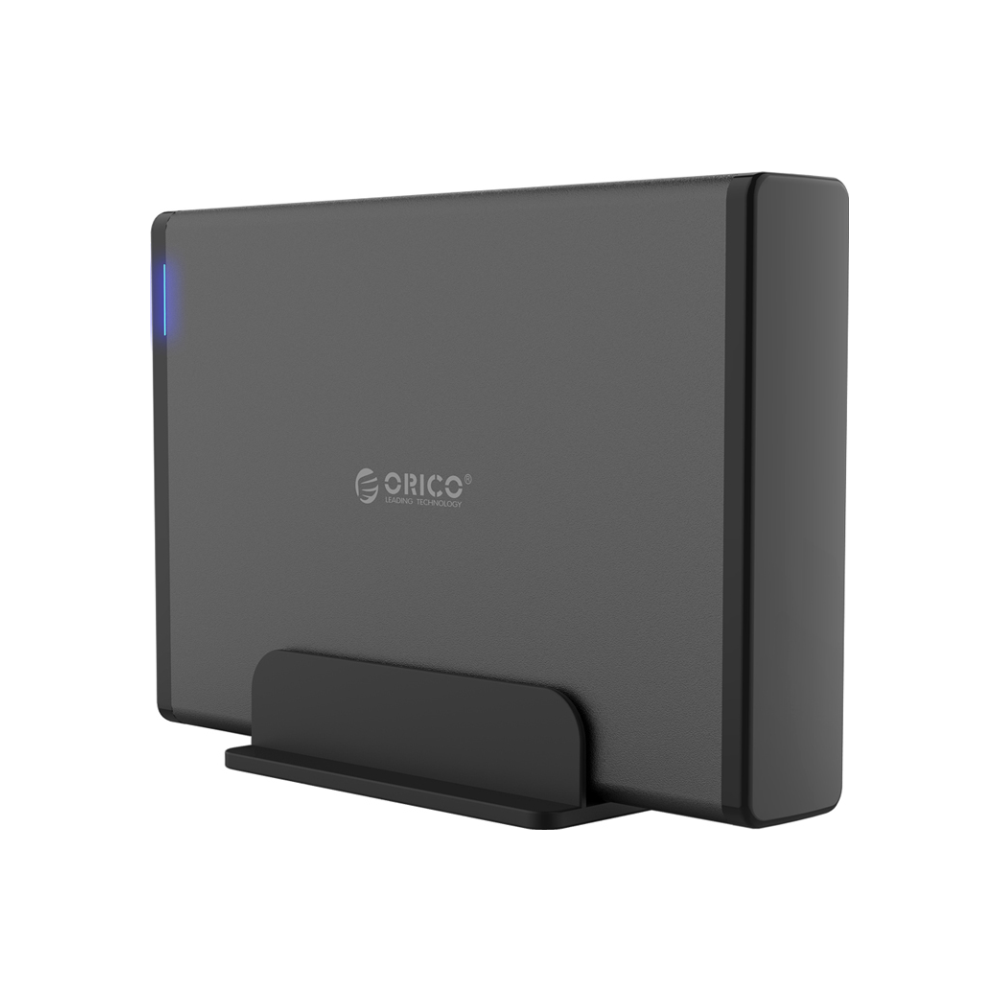 A large main feature product image of ORICO 3.5in Type-C External Hard Drive Enclosure