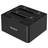 A product image of ORICO Dual Bay SATA to USB3.0 External Hard Drive Docking Station with Duplicator/Clone Function