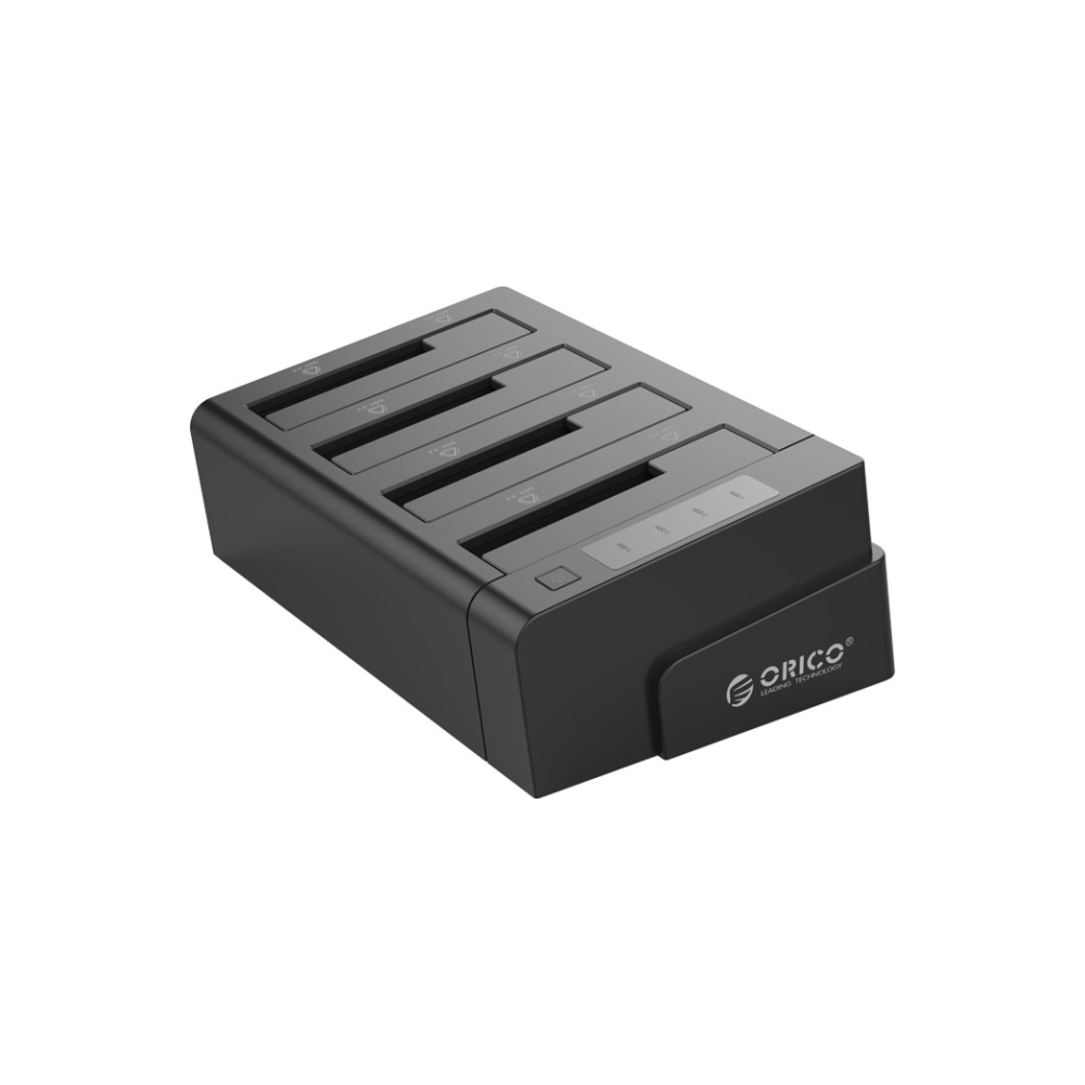 A large main feature product image of ORICO 2.5 & 3.5in SATA2.0 USB3.0 1 to 3 Clone External Hard Drive Dock