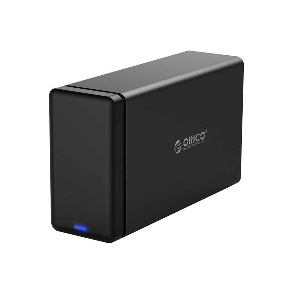 A large main feature product image of ORICO 2 Bay USB3.0 Hard Drive Dock with RAID