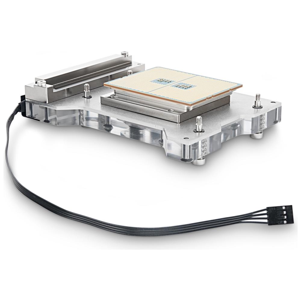 A large main feature product image of EK FB ASUS X399 RGB Monoblock - Nickel