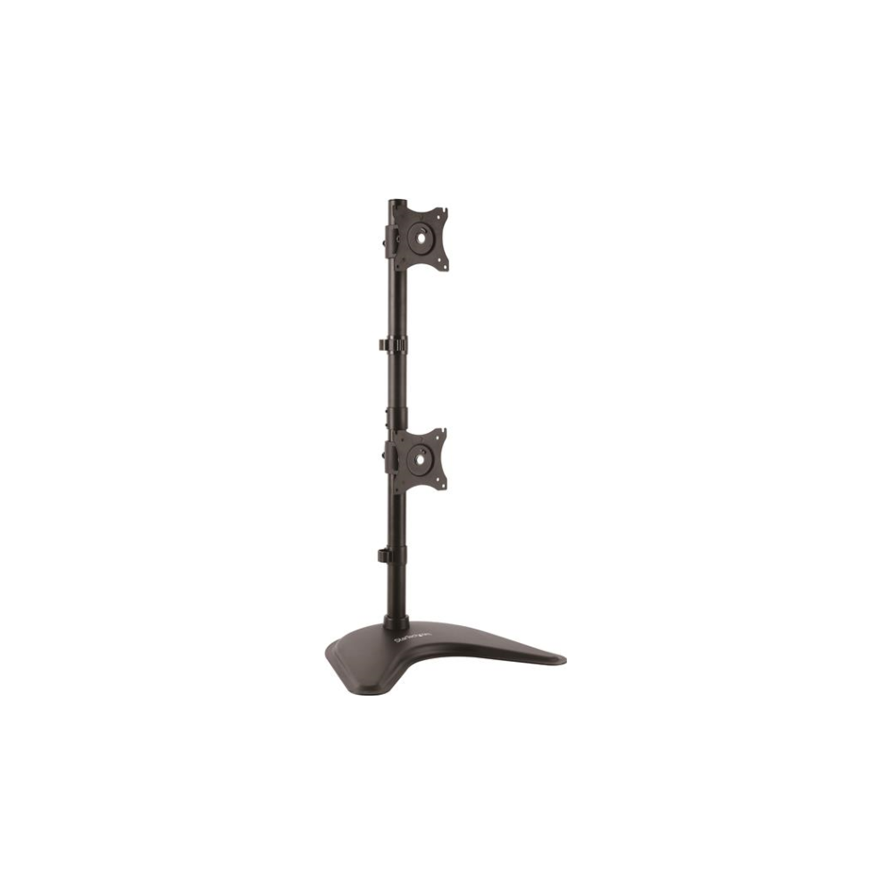 "A large main feature product image of Startech Dual Monitor Stand for Monitors up to 27"" - Vertical - Steel"